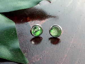 Sm Green Canvas Studs