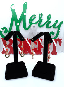 Wreath and Candy Cane Dangles