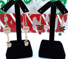 Load image into Gallery viewer, Santa and Bell Earrings