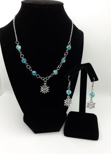 Snowflake Earring and Necklace - I