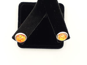 Sm Orange Canvas Studs