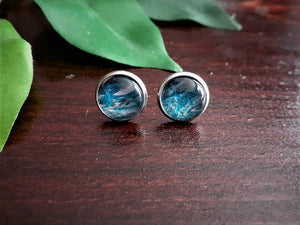 Md Metallic Blue Studs