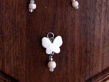 Load image into Gallery viewer, White Butterfly Earring and Necklace Set