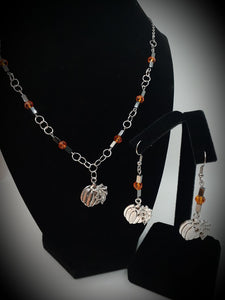Pumpkin Earring and Necklace Set