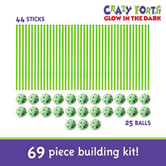 69 pieces CF3 Glow in the Dark Everest Toys Crazy Forts