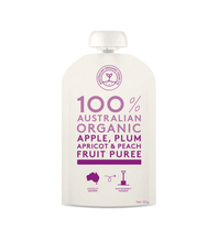 Load image into Gallery viewer, Australian Organic Food Co Fruit Puree - Apple, Plum, Apricot & Peach