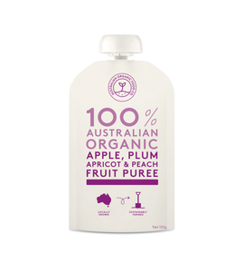 Australian Organic Food Co Fruit Puree - Apple, Plum, Apricot & Peach