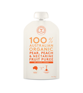 Australian Organic Food Co Fruit Puree - Pear, Peach & Nectarine