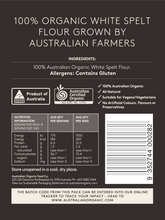 Load image into Gallery viewer, Australian Organic Food Co Organic White Spelt Flour