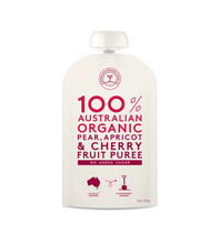 Load image into Gallery viewer, Australian Organic Food Co Fruit Puree - Pear, Apricot & Cherry