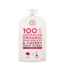Australian Organic Food Co Fruit Puree - Pear, Apricot & Cherry