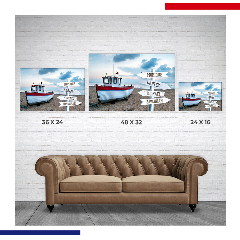Great American Gift Family Canvas Size Chart