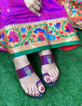 Load image into Gallery viewer, Purple Khan Toe Ring Wedges