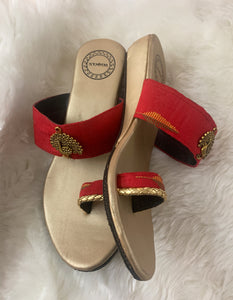 Red Toe Ring Wedges