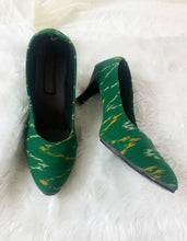 Load image into Gallery viewer, Green Ikat Stilettos