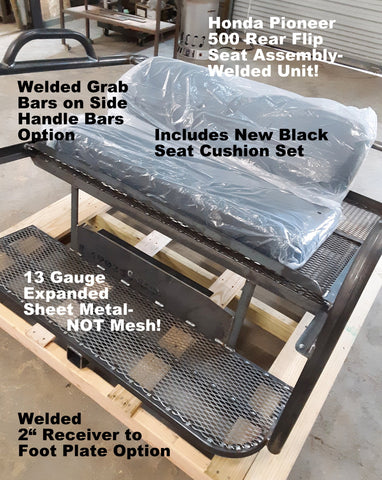 Honda Pioneer Rear Flip Seat Assembly Grizzly Metalworks