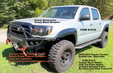 toyota tacoma winch plate bumper and rock sliders