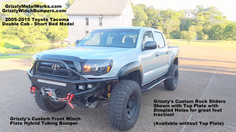 toyota tacoma rock sliders and front winch bumper