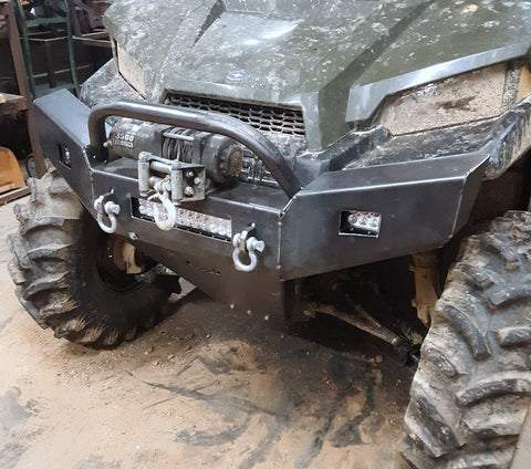 Polaris Ranger Front Winch Plate Bumper and SKid Plate