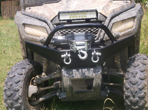 honda pioneer 500 front winch plate bumper grizzly metalworks