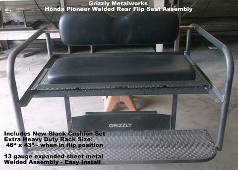 Honda Pioneer 500 Rear Flip Seat Assembly Grizzly Metalworks
