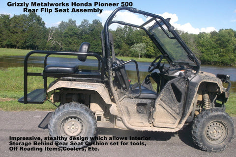 Honda pioneer 500 Rear flip Seat and Front Winch Plate Bumper