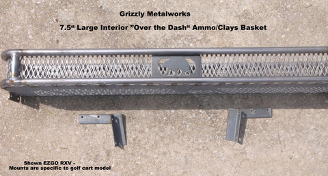 Interior over the dash ammo clays basket golf cart grizzly metalworks