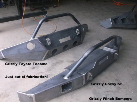 grizzly winch bumpers toyota tacoma winch bumper  chevy k5 winch bumper