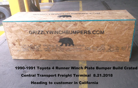 Grizzly Winch Bumpers 1990 - 1991 Toyota 4 Runner Winch Plate Bumper