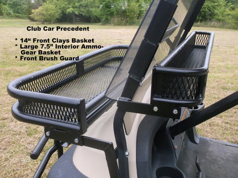 "Grizzly Metalworks Front Interior Ammo Basket ""Over the Dash"" and 14"" Front Clays Basket works with fold down windshields"