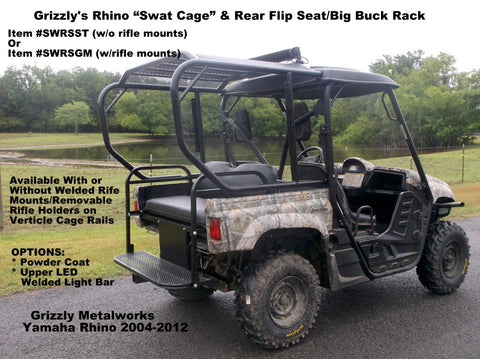Yamaha Rhino Swat Cage and Rear Seat Combo