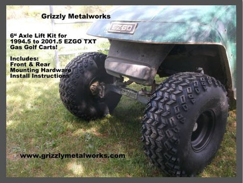"ezgo txt 6""drop axle lift kit grizzly metalworks"