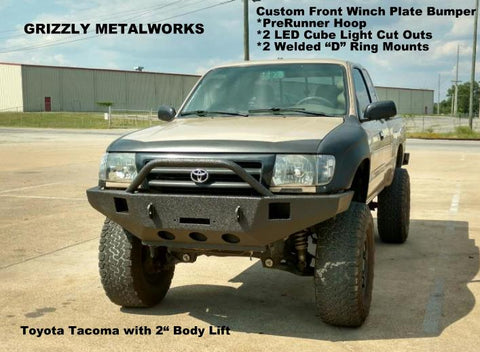 toyota tacoma front winch plate bumper