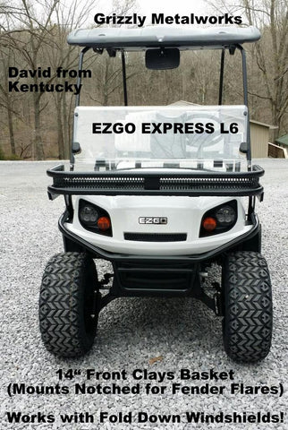 EZGO Express L6 Front Clays Basket Grizzly Metalworks