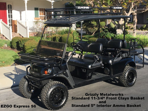 Front Clays Basket and Interior Ammo Basket EZGO Express S6