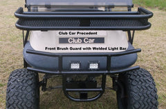 "FRONT PRE-RUNNER, FRONT STANDARD & WILDERNESS PREMIUM UTILITY BRUSH GUARDS WITH 2"" RECEIVER & LIGHT TAB (ITEM #014-WOM) (EZGO RXV, Club Car DS, Club Car Precedent, Yamaha G2, G9, G14, G16, G19, G22 & G29 carts)"