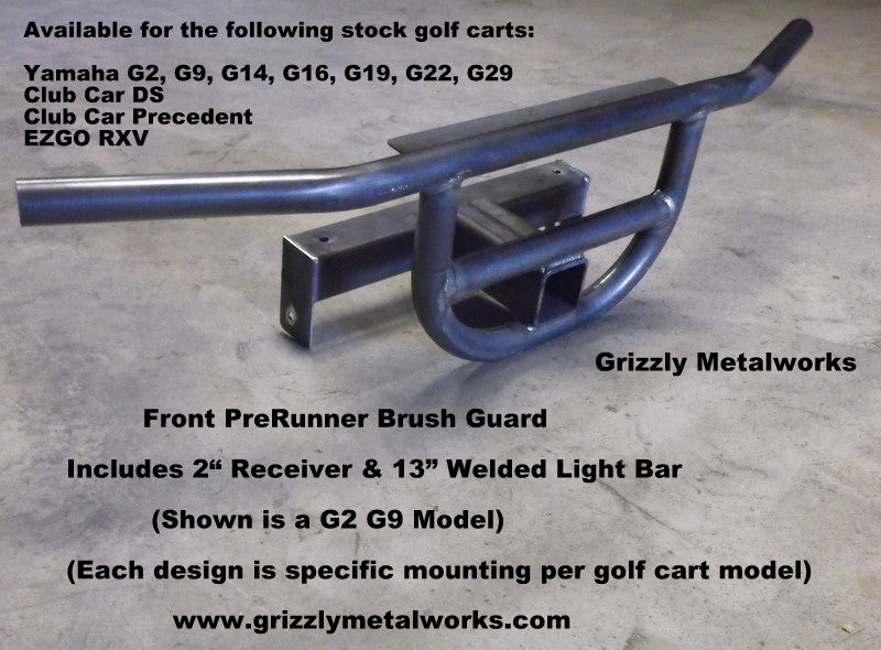 Golf Cart Front Brush Guard | Hunting Golf Carts | Grizzly