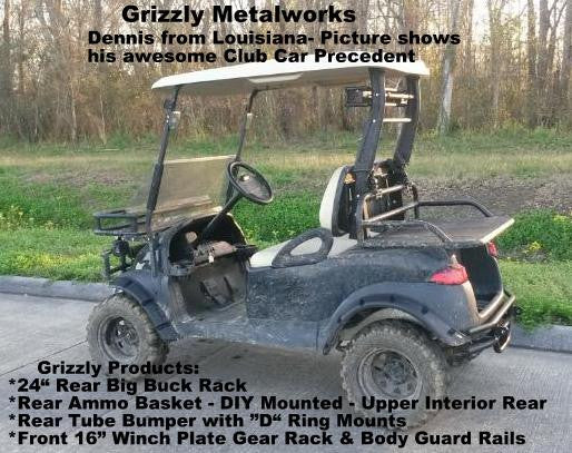 Golf Cart Racks Golf Cart Rear Baskets Grizzly