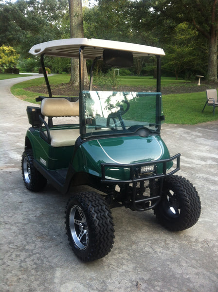 Golf cart front brush guard hunting golf carts grizzly for Narrow golf cart