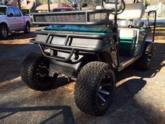 Grizzly Metalworks EZGO Marathon Golf Cart Front Brush Guard with Light Bar and Front Clays Basket works with Fold Down Windshield