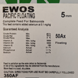 EWOS Pacific 5mm Floating 50Ax 18kg 45/16