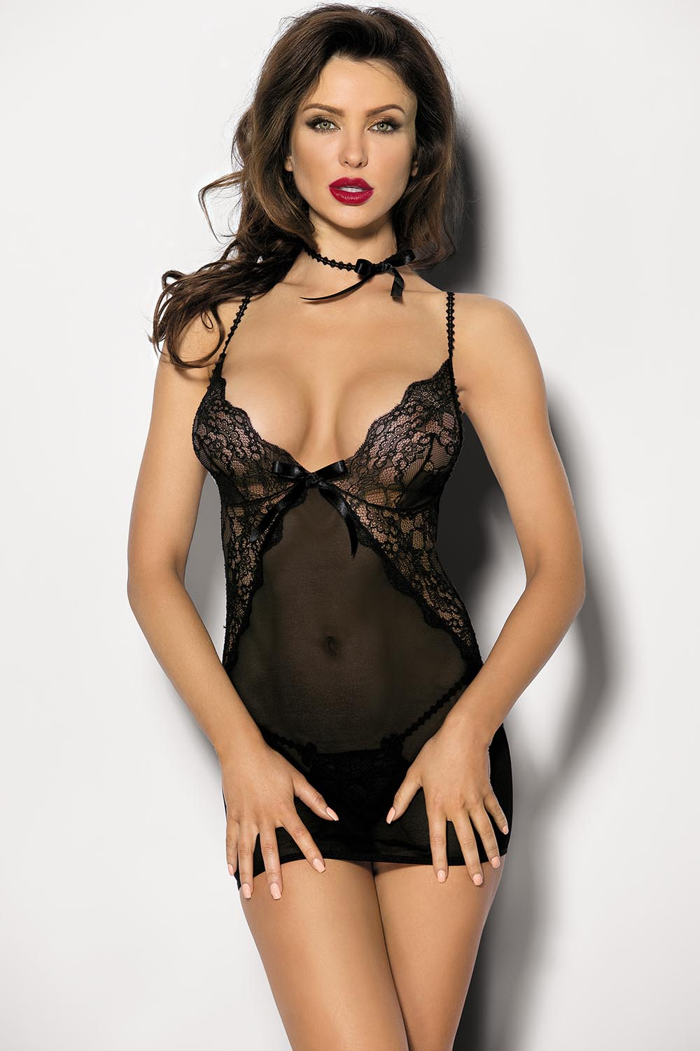 Omorfi Sexy Black Shirt And Panty Set - EVOLESCENT