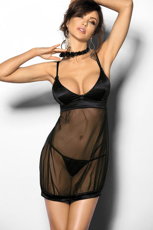 Abisara Lovely Babydoll Black Shirt And Panty - EVOLESCENT