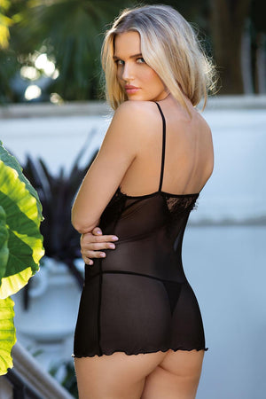 Jovita Lovely Black T-Shist And Panty Set - EVOLESCENT