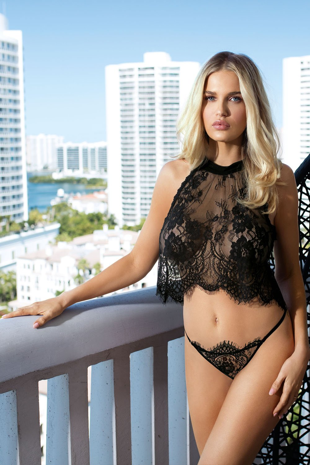 Olimpia Sexy Lace Tshirt And Panty Set - EVOLESCENT