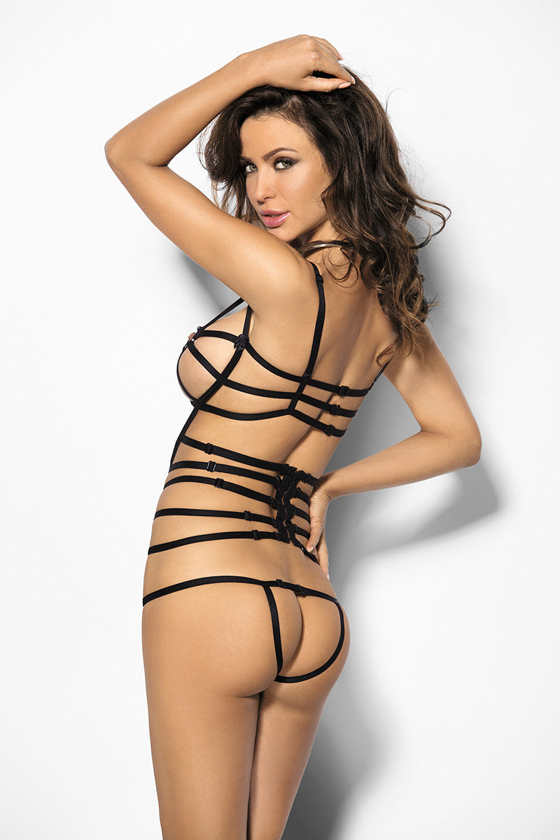 Antara Black&Strappy Black Sensual Body - EVOLESCENT