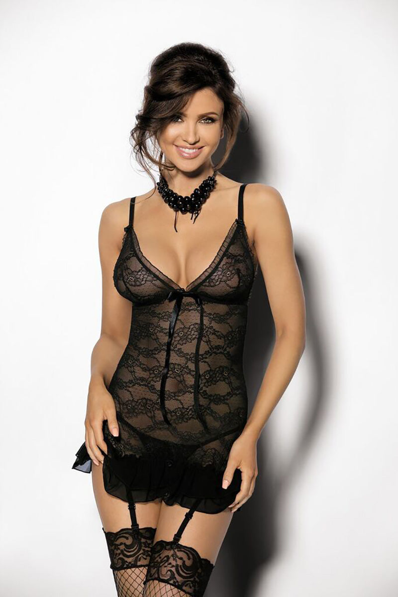 Finaci Black Lace Sexy Set - EVOLESCENT