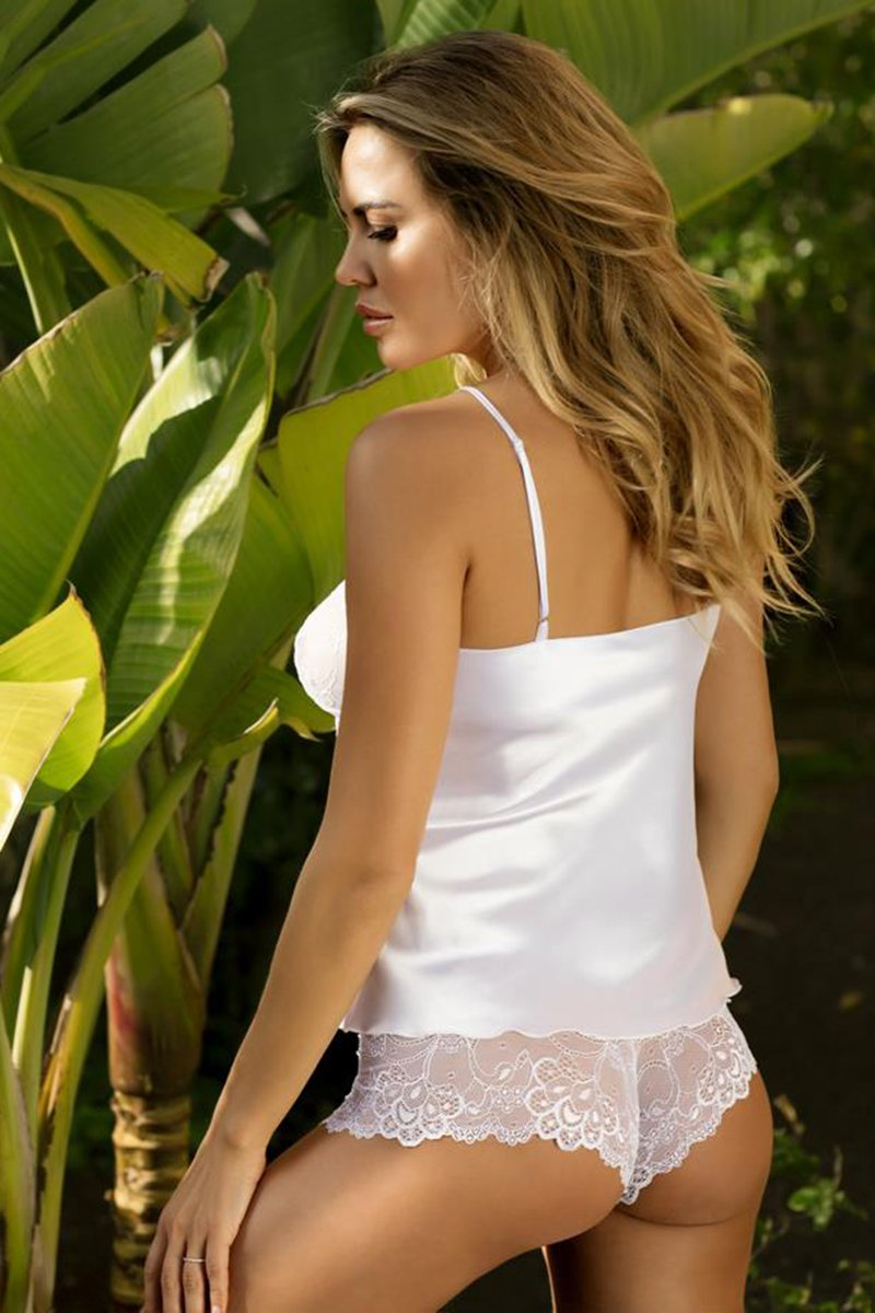Felicia White Sensual Shirt And Panty Set - EVOLESCENT