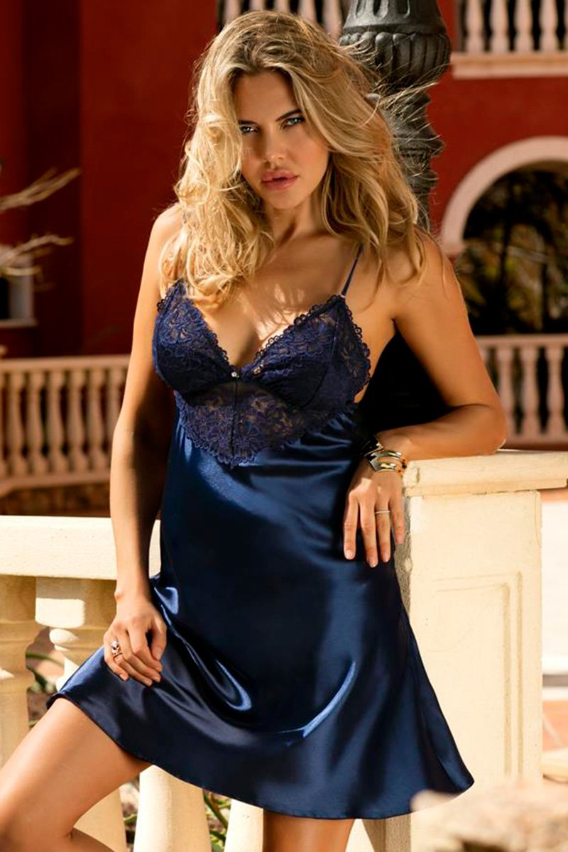 Alice Lovely Navy Blue Chemise - EVOLESCENT