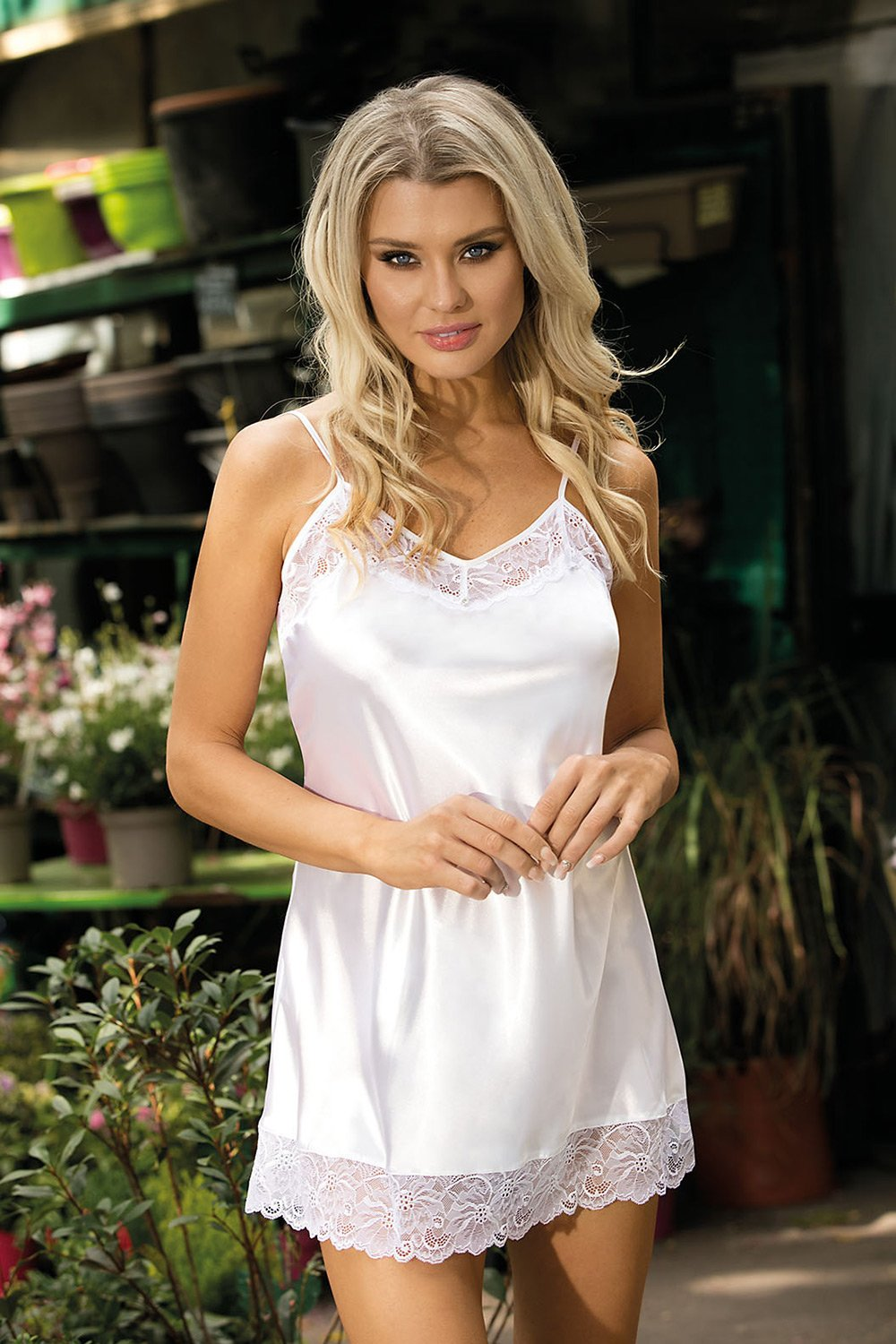 Milan Stunning Satin White Shirtshirt - EVOLESCENT